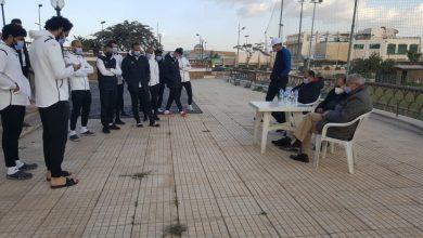 صورة محسن صلاح ومحمد عادل يساندان نجوم المقاولون..قبل موقعة الأهلى