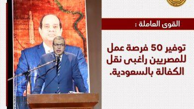 صورة القوى العاملة : توفير 50 فرصة عمل للمصريين راغبى نقل الكفالة بالسعودية