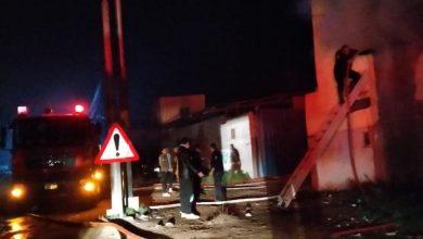 صورة حريق مروع بمصنع غزل بكفر الشيخ وأنباء عن وجود مصابين