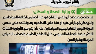 صورة شائعة: فرض غرامة 10 آلاف جنيه للممتنعين عن التطعيم بلقاح فيروس كورونا