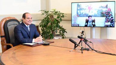 صورة الرئيس السيسي يهنئ البابا تواضروس الثاني والشعب المصري بعيد الميلاد المجيد
