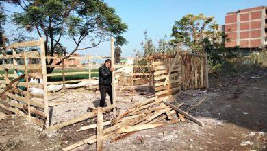 صورة استمرار إزالة التعديات ومخالفات البناء بمراكز ومدن كفر الشيخ