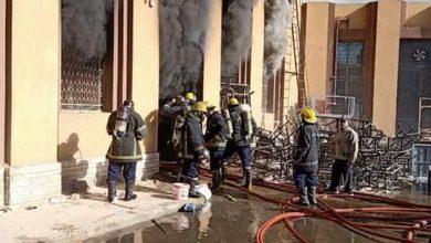 صورة الحماية المدنية تتمكن من إخماد حريق نشب بورشة صيانة بجوار المخازن المركزية لوزارة الصحة