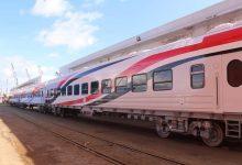 صورة وصول 19 عربة سكة حديد جديدة للركاب إلى ميناء الإسكندرية