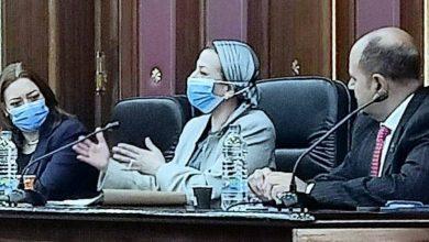 صورة فى أولى جلسات لجنة الطاقة والبيئة بمجلس النواب ٢٠٢١:ياسمين فؤاد : لدينا تكليفات رئاسية بمواجهة تلوث الهواء فى القاهرة الكبري