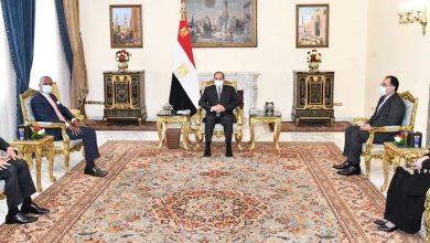 صورة الرئيس السيسي يستقبل السكرتير العام لمنطقة التجارة الحرة القارية الأفريقية