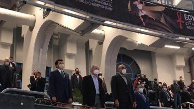 صورة وزير الرياضة يهنئ منتخب مصر بالتأهل لدور الثمانية