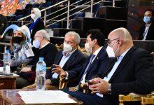 صورة وزير الرياضة يشهد مباراة قطر والأرجنتين بستاد القاهرة