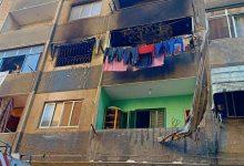 صورة محافظة القاهرة : عدم تأثر عقار حى المرج بالحريق الذي اندلع  بإحدي الشقق وأسفر عن مصرع 5 من أسرة المرج