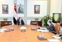 """صورة الرئيس السيسي يطلع على مخطط تطوير البنية الأساسية للكهرباء في إطار المشروع القومي لتطوير قرى الريف المصري"""""""