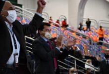 صورة وزير الرياضة يشهد مباراة مصر والدنمارك في دور الثمانية بمونديال اليد