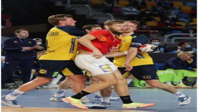صورة الدنمارك بطل كأس العالم لليد مصر 2021  بالفوز على السويد بنتيجة 26 – 24