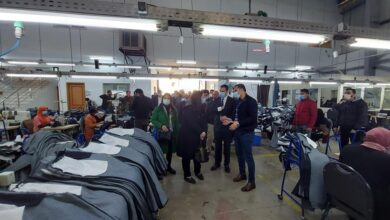 صورة نواب تنسيقية الأحزاب يتفقدون مصانع شباب بورسعيد