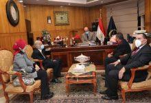 صورة وفد بورسعيد يقدم التهنئة لرجال الشرطة المصرية