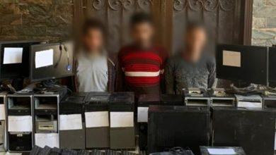 صورة ضبط مرتكبي واقعة سرقة أحد المعاهد التعليمية بالإسكندرية وإعادة المسروقات