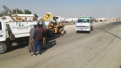 صورة حملة لمراجعة التزام المواطنين بارتداء الكمامات ورفع الإشغالات بمدينة الشروق