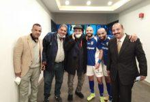 صورة محمد عادل يحتفل مع نجوم المقاولون..بالفوز على الإسماعيلي