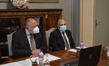 صورة عبر الفيديو كونفرانس ..بدء فعاليات اجتماع وزراء الخارجية والري لمصر وإثيوبيا والسودان لاستئناف مفاوضات ملء سد النهضة