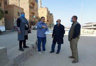 صورة رئاسة إسنا تجري جولة تفقدية لمتابعة الأعمال الخاصة بتطوير كورنيش النيلهي