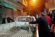 صورة مصادرة 9 شيش وغلق كافيتريا وتحرير 12 محضراً للمخالفين بدسوق