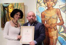 صورة ذهبية روسيا لفنانة مصرية