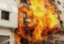 صورة إندلاع النيران داخل شقة سكنية بنجع حمادي