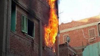 صورة وفاة سيدة ونجلها في حريق بقرية الإبراهيمية بدسوق كفرالشيخ