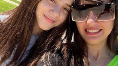 """صورة وجه القمر دينا فؤاد تحتفل بعيد ميلاد ابنتها زينة :""""أغلى حاجة فى حياتى"""""""