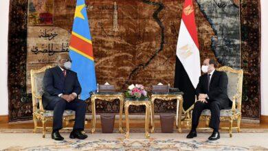صورة الرئيس السيسي يبحث مع رئيس الكونغو الديمقراطية التطورات الإقليمية ذات الاهتمام المتبادل، خاصةً قضية سد النهضة
