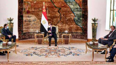 صورة السيسي يؤكد حرص مصر للحفاظ على قدرة الدولة اللبنانية بالمقام الأول، ولإخراج لبنان من الحالة التي يعاني منها حالياً
