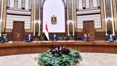 صورة الرئيس السيسي يساقبل الرؤساء التنفيذيين لعدد من الشركات البلجيكية