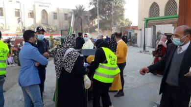 صورة لجنة وفد الغربية تتبنى توزيع الكمامات والمطهرات بشوارع وميادين طنطا