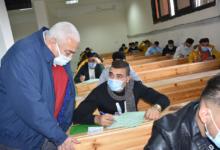 صورة بيومي يتابع خط سير الامتحانات بجامعه مدينه السادات