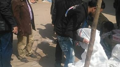 صورة فض إشغالات سوق الإثنين بمركز بسيون