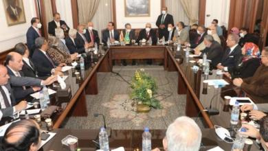 صورة انطلاق اجتماع أبو شقة الموسع مع شيوخ وقيادات الوفد