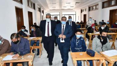 صورة في يومها الأول ووسط إجراءات احترازية مشددة:- انطلاق امتحانات الفصل الدراسي الأول بجامعة قناة السويس